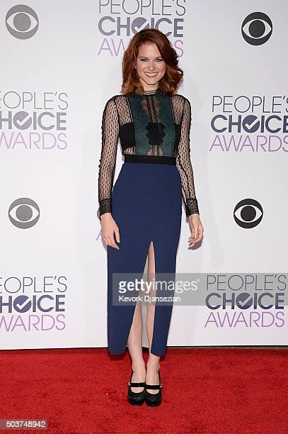 Actress Sarah Drew attends the People's Choice Awards 2016 at Microsoft Theater on January 6 2016 in Los Angeles California