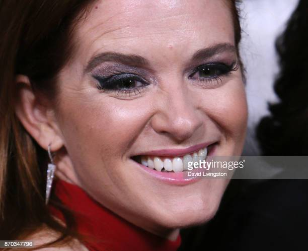Actress Sarah Drew eye makeup detail attends the 300th episode celebration for ABC's 'Grey's Anatomy' at TAO Hollywood on November 4 2017 in Los...