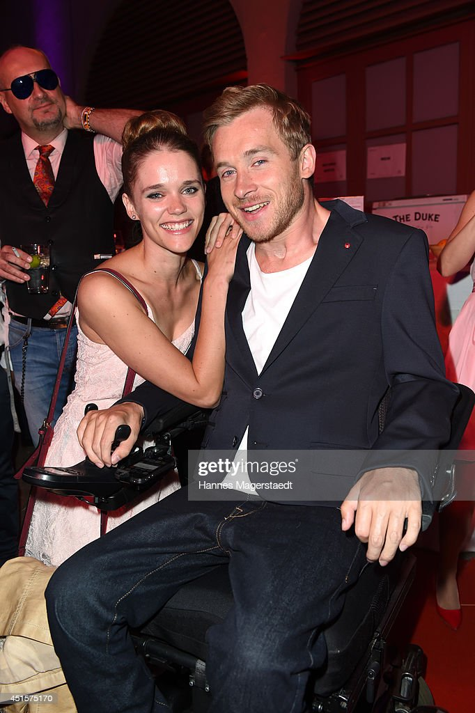 Actress Sarah Elena Timpe and Samuel Koch attend the Bavaria Reception during the Munich Film Festival 2014 on July 1, 2014 in Munich, Germany.