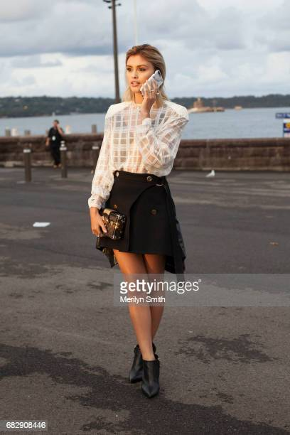 Actress Sarah Ellen wears all Louis Vuitton with Tiffany and Co jewellery at Sydney Opera House on May 14 2017 in Sydney Australia