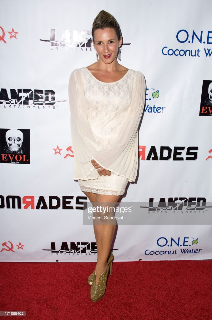 Actress Sarah Farooqui attends the Los Angeles premiere of 'Comrades' on June 27, 2013 in Los Angeles, California.