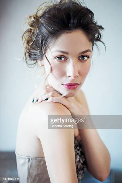 Actress Sarah Felberbaum is photographed for Self Assignment on April 22 2015 in Rome Italy