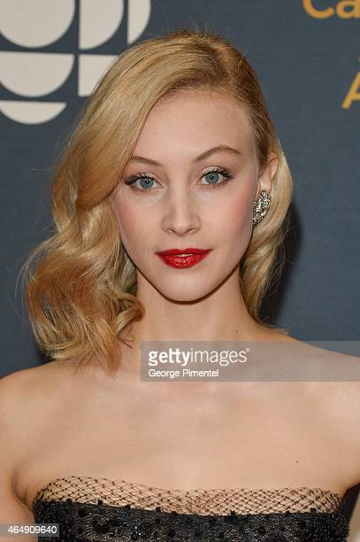 Actress Sarah Gadon arrives at the 2015 Canadian Screen Awards at the Four Seasons Centre for the Performing Arts on March 1 2015 in Toronto Canada