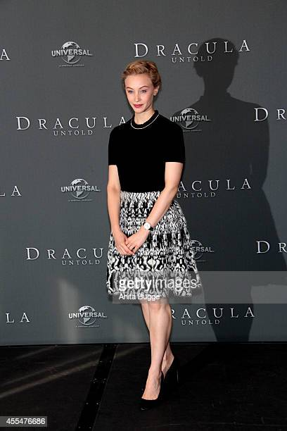 Actress Sarah Gadon attends a 'Dracula Untold' photocall at Ritz Carlton on September 15 2014 in Berlin Germany