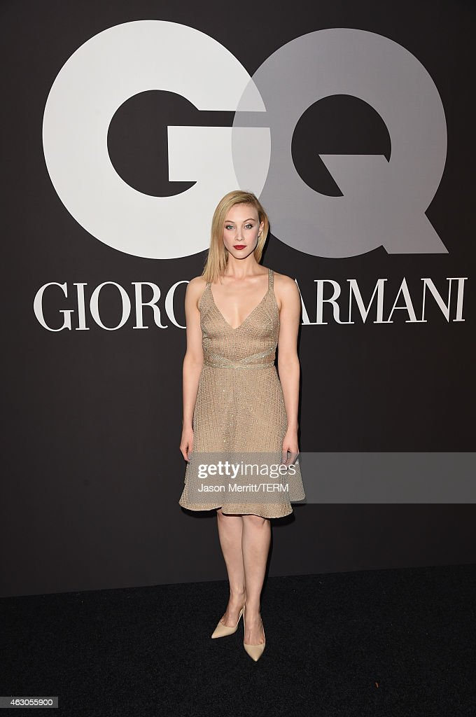 Actress <a gi-track='captionPersonalityLinkClicked' href=/galleries/search?phrase=Sarah+Gadon&family=editorial&specificpeople=6606524 ng-click='$event.stopPropagation()'>Sarah Gadon</a> attends GQ and Giorgio Armani Grammys After Party at Hollywood Athletic Club on February 8, 2015 in Hollywood, California.