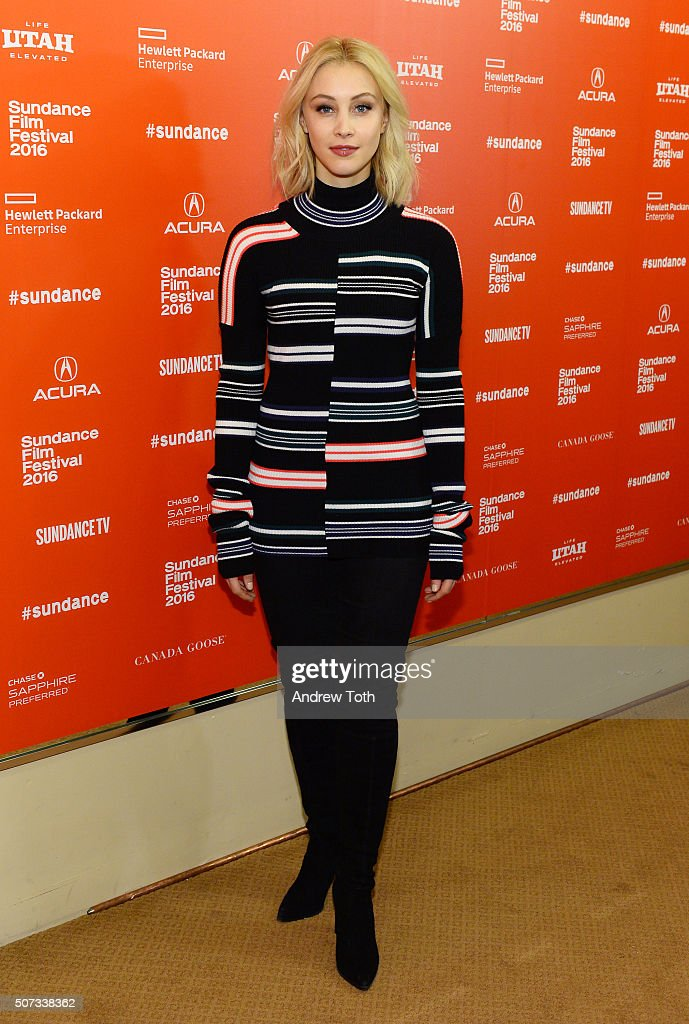 Actress <a gi-track='captionPersonalityLinkClicked' href=/galleries/search?phrase=Sarah+Gadon&family=editorial&specificpeople=6606524 ng-click='$event.stopPropagation()'>Sarah Gadon</a> attends the '11.22.63' Sundance premiere on January 28, 2016 in Park City, Utah.