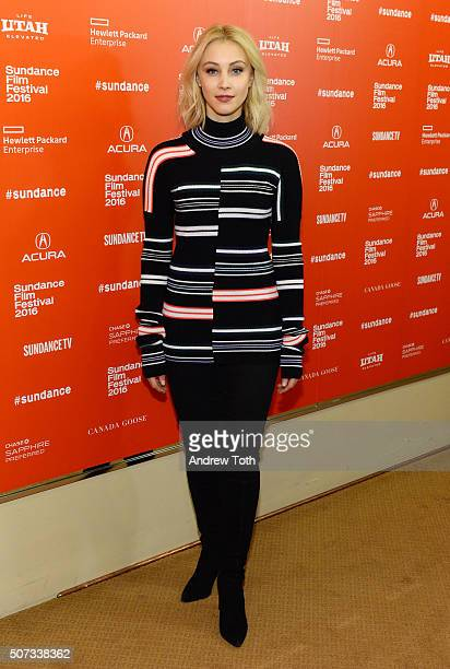 Actress Sarah Gadon attends the '112263' Sundance premiere on January 28 2016 in Park City Utah