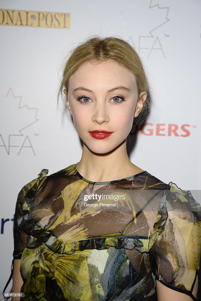 Actress <a gi-track='captionPersonalityLinkClicked' href=/galleries/search?phrase=Sarah+Gadon&family=editorial&specificpeople=6606524 ng-click='$event.stopPropagation()'>Sarah Gadon</a> attends the 2nd Annual Canadian Arts And Fashion Awards held at the Fairmont Royal York Hotel on January 31, 2015 in Toronto, Canada.