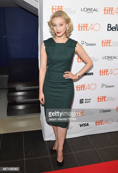 Actress Sarah Gadon attends the 4th annual festival kickoff fundraising soiree during the 2015 Toronto International Film Festival at TIFF Bell...