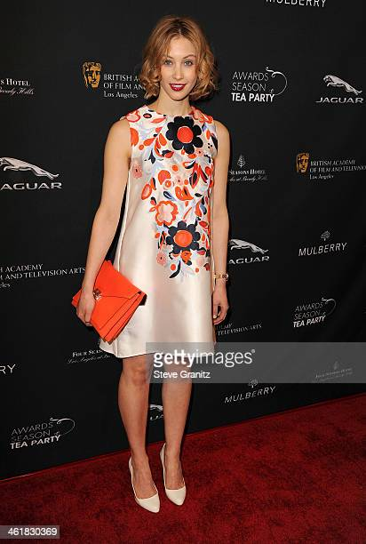 Actress Sarah Gadon attends the BAFTA LA 2014 Awards Season Tea Party at the Four Seasons Hotel Los Angeles at Beverly Hills on January 11 2014 in...