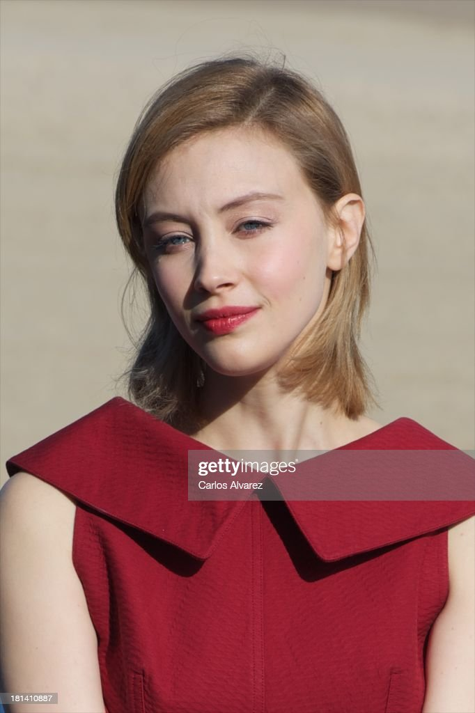 Actress Sarah Gadon attends the 'Enemy' photocall during the 61th San Sebastian International Film Festival at the Kursaal Palace on September 21, 2013 in San Sebastian, Spain.