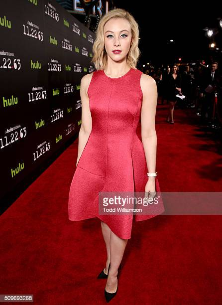 Actress Sarah Gadon attends the Hulu Original '112263' premiere at the Regency Bruin Theatre on February 11 2016 in Los Angeles California