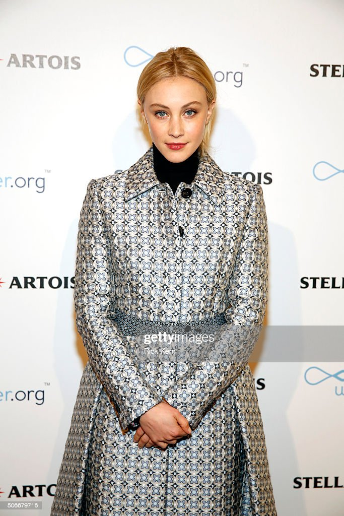 Actress Sarah Gadon attends the 'Indignation' Cocktail Party in the Stella Artois Filmmaker Lounge during the 2016 Sundance Film Festival on January...