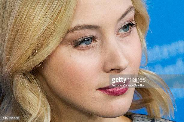 Actress Sarah Gadon attends the 'Indignation' photo call during the 66th Berlinale International Film Festival Berlin at Grand Hyatt Hotel on...