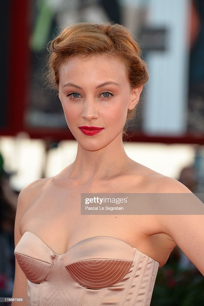 Actress <a gi-track='captionPersonalityLinkClicked' href=/galleries/search?phrase=Sarah+Gadon&family=editorial&specificpeople=6606524 ng-click='$event.stopPropagation()'>Sarah Gadon</a> attends the 'Joe' Premiere during The 70th Venice International Film Festival at Palazzo Del Cinema on August 30, 2013 in Venice, Italy.
