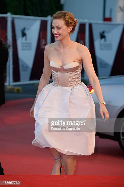 Actress Sarah Gadon attends the 'Joe' Premiere during The 70th Venice International Film Festival at Palazzo Del Cinema on August 30 2013 in Venice...