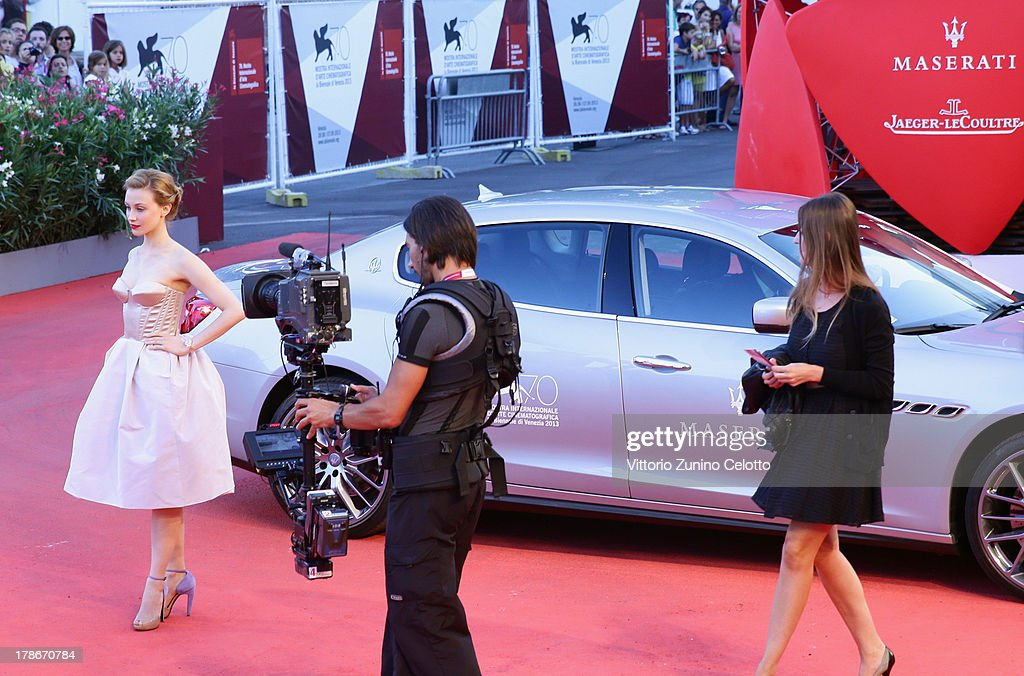 Actress Sarah Gadon attends the 'Joe' Premiere during The 70th Venice International Film Festival at Palazzo Del Cinema on August 30, 2013 in Venice, Italy.