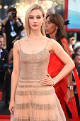 Actress Sarah Gadon attends the Opening Ceremony and 'Birdman' premiere during the 71st Venice Film Festival at Palazzo Del Cinema on August 27 2014...
