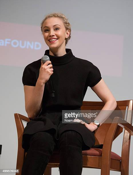 Actress Sarah Gadon attends the SAGAFTRA Foundation's conversations series with Sarah Gadon of 'A Royal Night Out' at DGA Theater on December 1 2015...