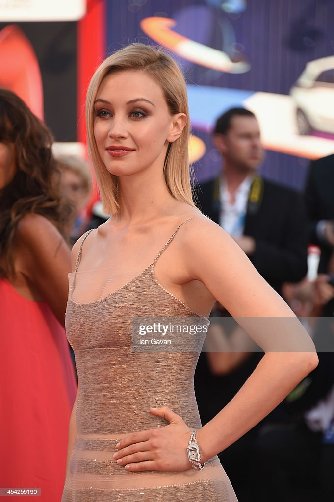 Actress Sarah Gadon wearing the JaegerLeCoultre Reverso Cordonnet watch attends the opening ceremony and 'Birdman' Premiere during the 71st Venice...