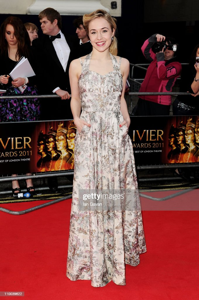Actress <a gi-track='captionPersonalityLinkClicked' href=/galleries/search?phrase=Sarah+Goldberg+-+Canadian+Actress&family=editorial&specificpeople=13637164 ng-click='$event.stopPropagation()'>Sarah Goldberg</a> attends The Olivier Awards 2011 at Theatre Royal on March 13, 2011 in London, England.