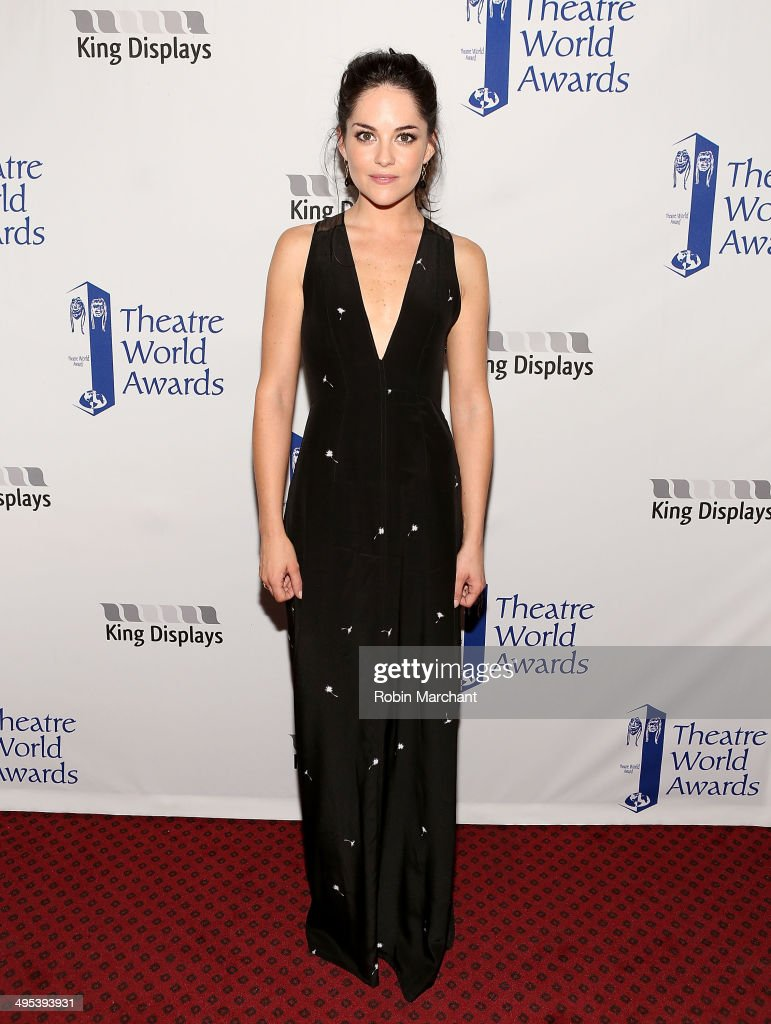 Actress <a gi-track='captionPersonalityLinkClicked' href=/galleries/search?phrase=Sarah+Greene+-+Actress&family=editorial&specificpeople=12753535 ng-click='$event.stopPropagation()'>Sarah Greene</a> attends the 2014 Theatre World Awards ceremony at Circle in the Square on June 2, 2014 in New York City.