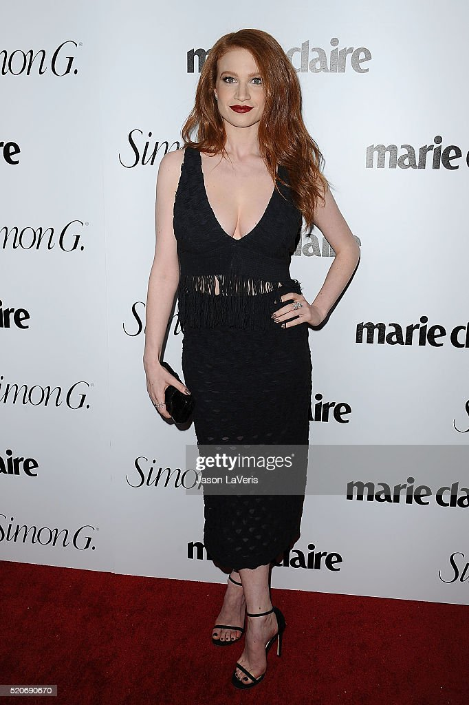 Actress Sarah Hay attends the Marie Claire Fresh Faces party at Sunset Tower Hotel on April 11 2016 in West Hollywood California