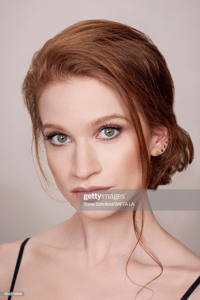 Actress Sarah Hay poses for a portrait at the BAFTA Los Angeles Awards Season Tea at the Four Seasons Hotel on January 9, 2016 in Los Angeles, California.
