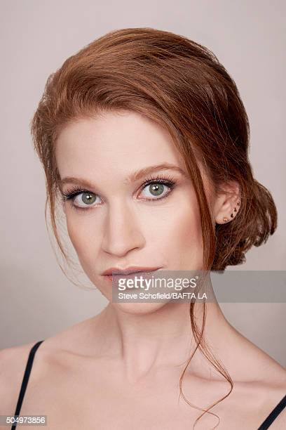 Actress Sarah Hay poses for a portrait at the BAFTA Los Angeles Awards Season Tea at the Four Seasons Hotel on January 9 2016 in Los Angeles...