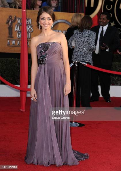 Actress Sarah Hyland arrives at the 16th Annual Screen Actors Guild Awards held at The Shrine Auditorium on January 23 2010 in Los Angeles California