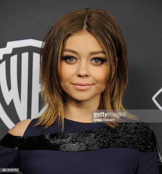 Actress Sarah Hyland arrives at the 18th Annual PostGolden Globes Party hosted by Warner Bros Pictures and InStyle at The Beverly Hilton Hotel on...