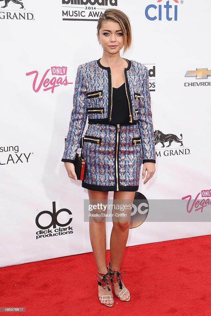 Actress Sarah Hyland arrives at the 2014 Billboard Music Awards at the MGM Grand Garden Arena on May 18, 2014 in Las Vegas, Nevada.