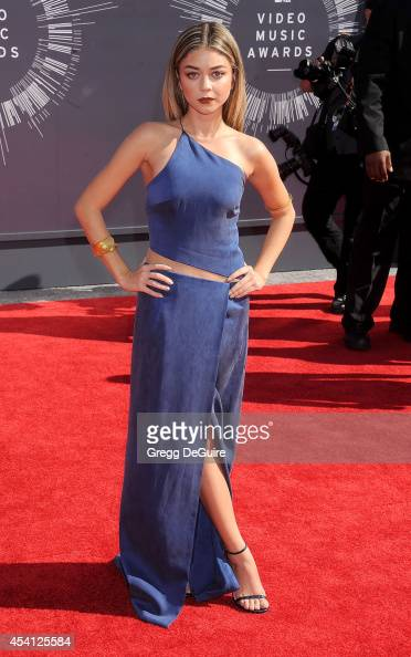 Actress Sarah Hyland arrives at the 2014 MTV Video Music Awards at The Forum on August 24 2014 in Inglewood California