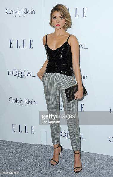 Actress Sarah Hyland arrives at the 22nd Annual ELLE Women In Hollywood Awards at Four Seasons Hotel Los Angeles at Beverly Hills on October 19 2015...