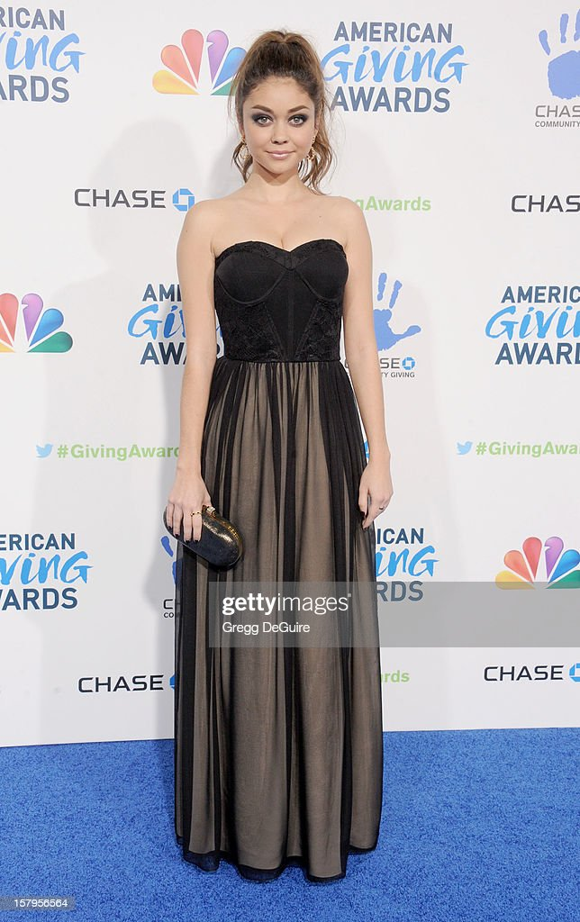 Actress Sarah Hyland arrives at the 2nd Annual American Giving Awards at the Pasadena Civic Auditorium on December 7, 2012 in Pasadena, California.