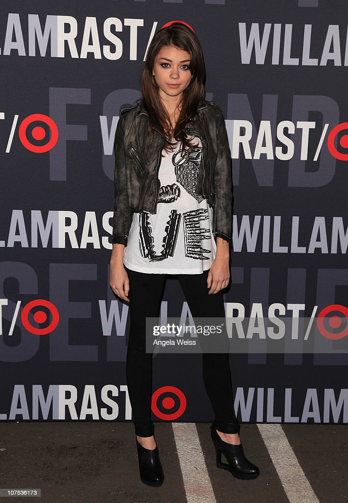 Actress Sarah Hyland arrives at the launch of Target's & William Rast's Limited Edition Collection shopping event at Factory Place on December 11, 2010 in Los Angeles, California.