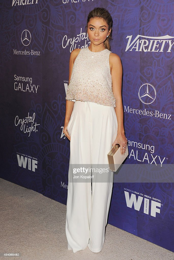 Actress Sarah Hyland arrives at Variety And Women In Film Annual Pre-Emmy Celebration at Gracias Madre on August 23, 2014 in West Hollywood, California.