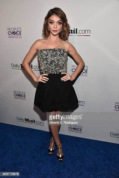 Actress Sarah Hyland attends DailyMail's after party for 2016 People's Choice Awards at Club Nokia on January 6 2016 in Los Angeles California