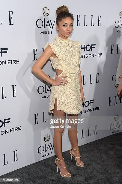 Actress Sarah Hyland attends ELLE's 6th Annual Women In Television Dinner at Sunset Tower Hotel on January 20 2016 in West Hollywood California
