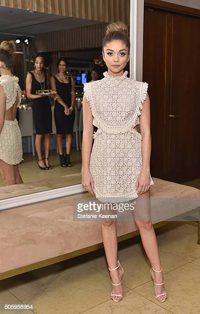 Actress Sarah Hyland attends ELLE's 6th Annual Women in Television Dinner Presented by Hearts on Fire Diamonds and Olay at Sunset Tower on January 20...