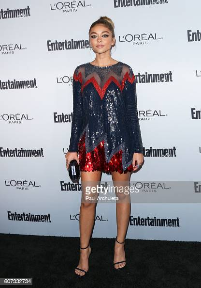 Actress Sarah Hyland attends Entertainment Weekly's 2016 PreEmmy party at Nightingale Plaza on September 16 2016 in Los Angeles California