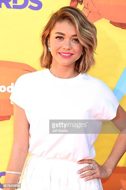 Actress Sarah Hyland attends Nickelodeon's 28th Annual Kids' Choice Awards held at The Forum on March 28 2015 in Inglewood California