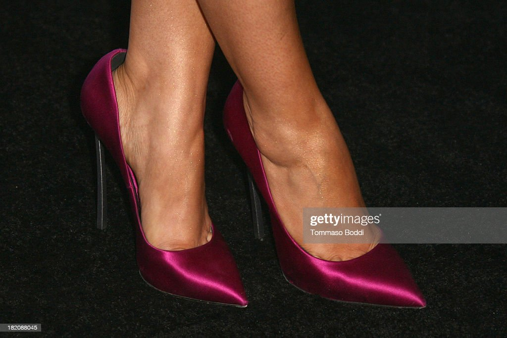 Actress Sarah Hyland (shoe detail) attends the 11th Annual Teen Vogue Young Hollywood Party With Emporio Armani on September 27, 2013 in Los Angeles, California.