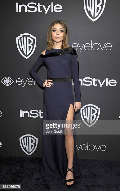 Actress Sarah Hyland attends The 2017 InStyle and Warner Bros 73rd Annual Golden Globe Awards PostParty at The Beverly Hilton Hotel on January 8 2017...