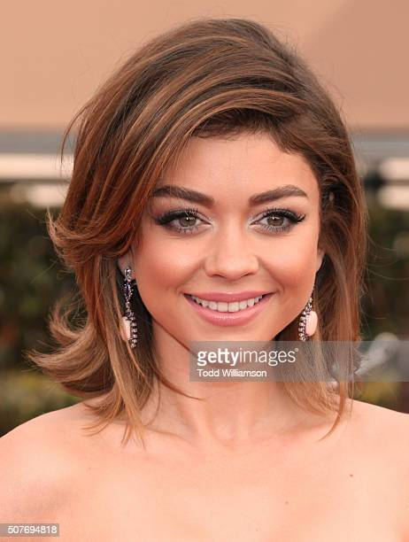 Actress Sarah Hyland attends the 22nd Annual Screen Actors Guild Awards at The Shrine Auditorium on January 30 2016 in Los Angeles California