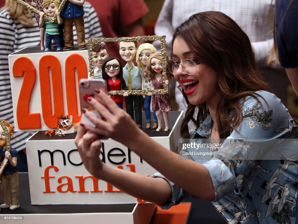 Actress Sarah Hyland attends the ABC celebration of the 200th episode of 'Modern Family' at Fox Studios on November 15, 2017 in Los Angeles, California.