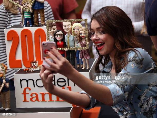 Actress Sarah Hyland attends the ABC celebration of the 200th episode of 'Modern Family' at Fox Studios on November 15 2017 in Los Angeles California