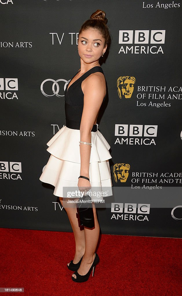 Actress Sarah Hyland attends the BAFTA LA TV Tea 2013 presented by BBC America and Audi held at the SLS Hotel on September 21, 2013 in Beverly Hills, California.