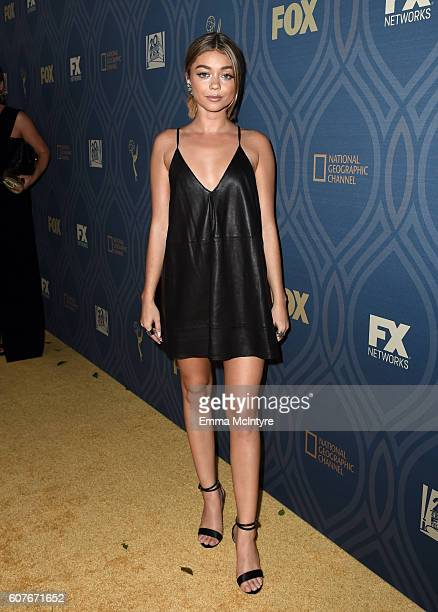 Actress Sarah Hyland attends the FOX Broadcasting Company FX National Geographic And Twentieth Century Fox Television's 68th Primetime Emmy Awards...