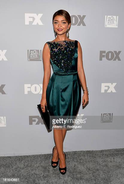 Actress Sarah Hyland attends the FOX Broadcasting Company Twentieth Century FOX Television and FX Post Emmy Party at Soleto on September 22 2013 in...